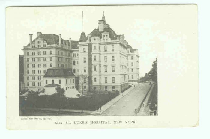 73623 NY New York City Vintage Postcard St Luke's Hospital