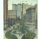 73627 NY New York City Vintage Postcard Bowling Green 1922