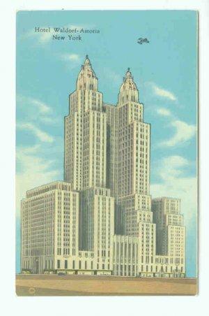73630 NY New York City Vintage Postcard Hotel Waldorf-Astoria