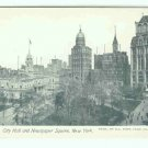 73632 NY New York City Vintage Postcard City Hall Square