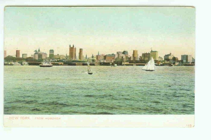 73635 NY New York City Vintage Postcard From Hoboken NJ