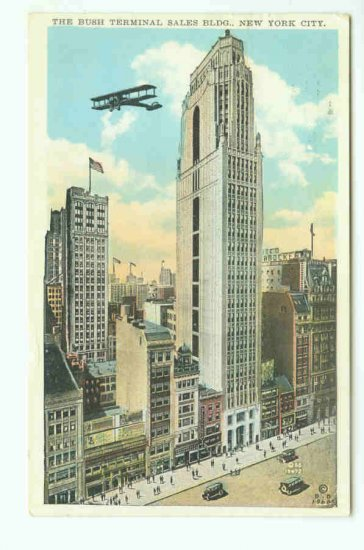 73637 NY New York City Vintage Postcard The Bush Terminal Building