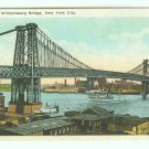 73640 NY New York City Vintage Postcard Williamsburg Bridge