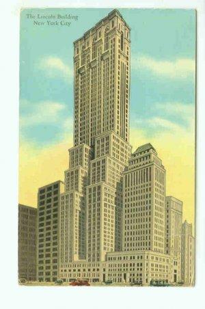 73642 NY New York City Vintage Postcard Lincoln Building