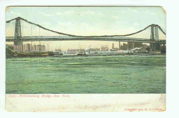 73644 NY New York City Vintage Postcard Williamsburg Bridge 1903