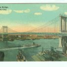 73649 NY New York City Vintage Postcard Manhattan Bridge
