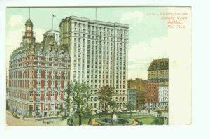 73651 NY New York City Vintage Postcard Washington and Bowling Green Building 1906 era
