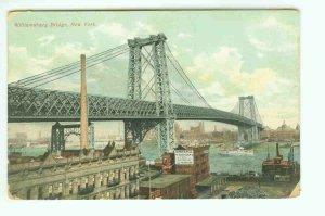 73653 NY New York City Vintage Postcard  Williamsburg Bridge 1910 era