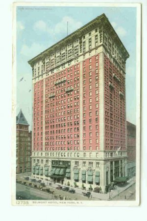 73655 NY New York City Vintage Postcard  Belmont Hotel 1910