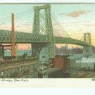 73657 East River Bridge NY New York City Vintage Postcard  1910 era