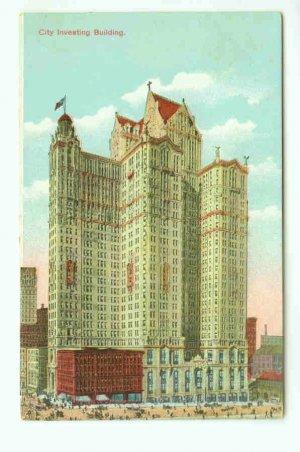 73659 NY New York City Vintage Postcard City Investing Building 1910 era