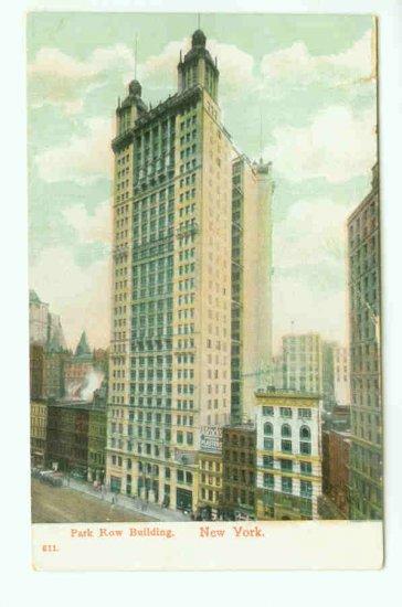 73660 NY New York City Vintage Postcard Park Row Building Early