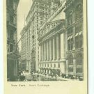 73668 NY New York City Vintage Postcard  Stock Exchange Wall Street