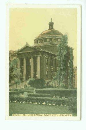 73669 NY New York City Vintage Postcard Earl Hall Columbia University