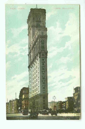 73761 NY New York City Vintage Postcard Times Building 1910 era