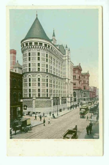 73674 NY New York City Vintage Postcard Street Scene The Tombs 1905