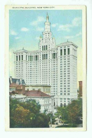 73684 NY New York City Vintage Postcard  Municipal Building 1921