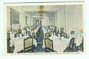 73690 NY New York City Vintage Postcard  Dining Room Hotel Bristol