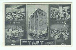 73691 NY New York City Vintage Postcard Hotel Taft Seventh Avenue