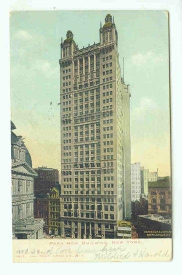 73696 NY New York City Vintage Postcard Park Row Building