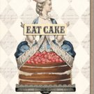 Eat Cake Birthday Greeting Card by Paper Relics