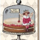 Happy Birthday Cake Note Card Set Paper Relics