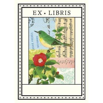 Cavallini Bookplate Flora and Fauna Bird