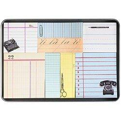 Cavallini Sticky Notes Set, Retro Office Assorted Sizes