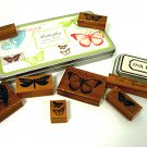 Vintage Butterfly Rubber Stamp Set by Cavallini & Co.