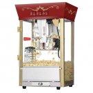 Great Northern Red Antique Popcorn Popper Machine 8 Oz 6091 Matinee Movie New