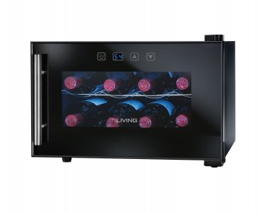 Nostalgia Electrics Living Collection 8-Bottle Wine Chiller EWC008BLK NEW