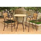 International Caravan Valencia Set of 3 Outdoor Patio Bistro Set New!