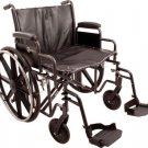 "Roscoe Medical K7-Lite Bariatric Wheelchair Swingaway Footrest 24"" W x 18"" D"