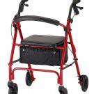 """NOVA 4236RD VIBE 6 ROLLING WALKER-RED New, """"Make An Offer""""- All Offers Considered!"""