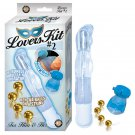 Lovers Kit 2 Includes 1 Bendable Vibe Vibrating Cockring Ben-Wa Balls Blue&Gold