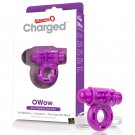 Screaming O Charged OWow Vooom Vibrating Cock Ring - Purple