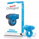 Screaming O Charged OWow Vooom Vibrating Cock Ring - Blue