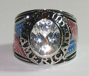 MENS PROUD AMERICAN RING Tea Party Patriot Size 9 WGP New