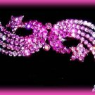 Sparkling PINK CRYSTALS SHOOTING STARS HAIR BARRETTE w/SWAROVSKI CRYSTALS New