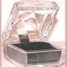 CLEAR CRYSTAL-LOOK ACRYLIC WEDDING RING GIFT BOX New