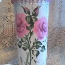 VINTAGE SAP BUCKET METAL VASE SHABBY COTTAGE Chic HP Pink Roses