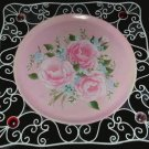 SHABBY COTTAGE CHIC PLATE SCROLLY WALL DECOR HP Roses
