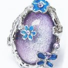 LILAC FLORAL BUTTERFLY FANTASY RING Gift Box
