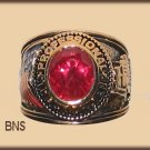Mens TRUCKER TRUCK DRIVER YGP RING RED CZ Size 10 New