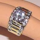 LADIES SOLITAIRE RING CLEAR CZ CRYSTALS Size 6