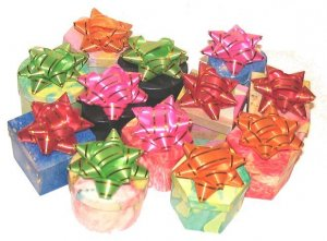 WHOLESALE LOT 12 COLORFUL GIFT RING BOXES with BOWS New