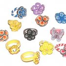 LOT of 50 Fun Cutie Pie Rings Party Favors, Resale, Assorted New