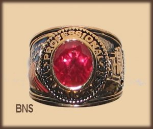 Mens TRUCKER TRUCK DRIVER RING RED CZ Size 12 New