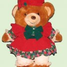 """Christmas Bear """"Teddy Bear Lane"""" Winter 994 Toy Collectible Used"""