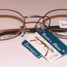 Readers Reading Glasses Clear Lens Spring TEMPLE +1.5 Silvertone Frames New